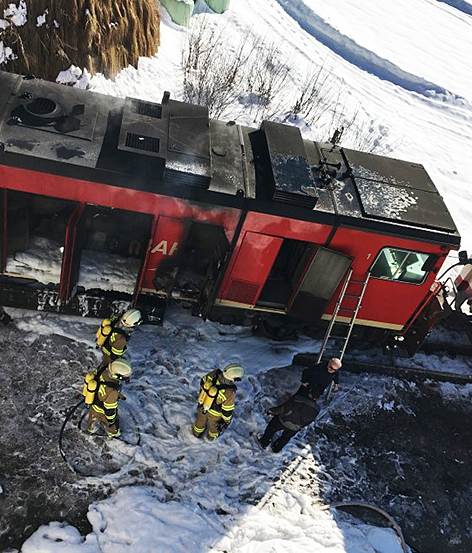 Diesellok der Pinzgaubahn ausgebrannt