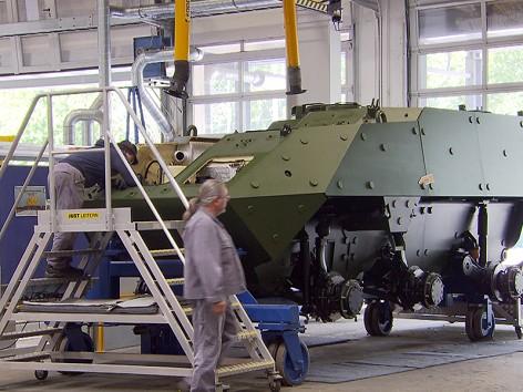 "Panzerproduktion: Zeitplan ""im grünen Bereich"""