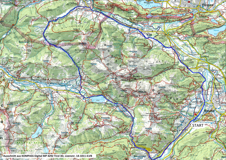 Tannheimer Tal Karte.Radtour Lechtal Tannheimertal Pfronten Radio Tirol