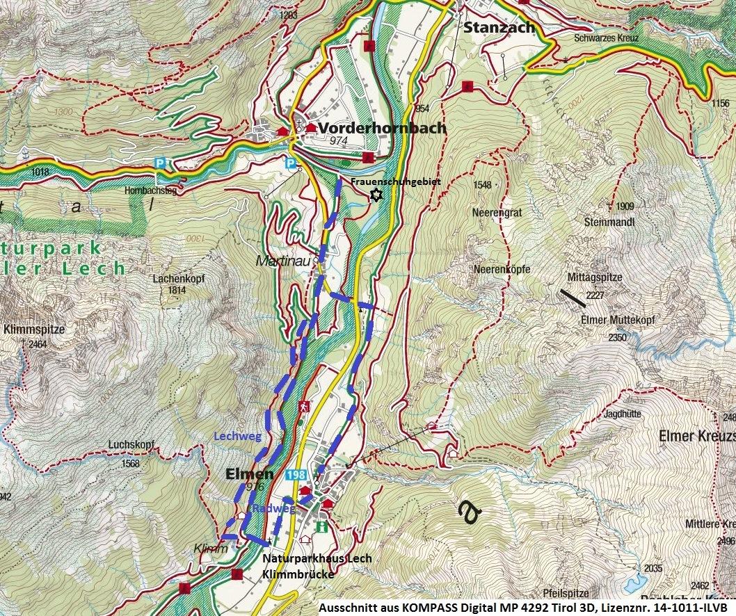 Lechweg Karte.Frauenschuhblüte Im Lechtal Radio Tirol